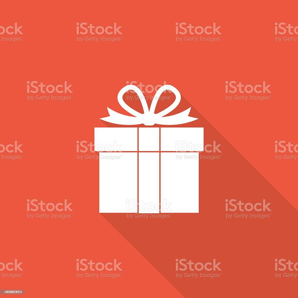 giftbox icon vector art illustration