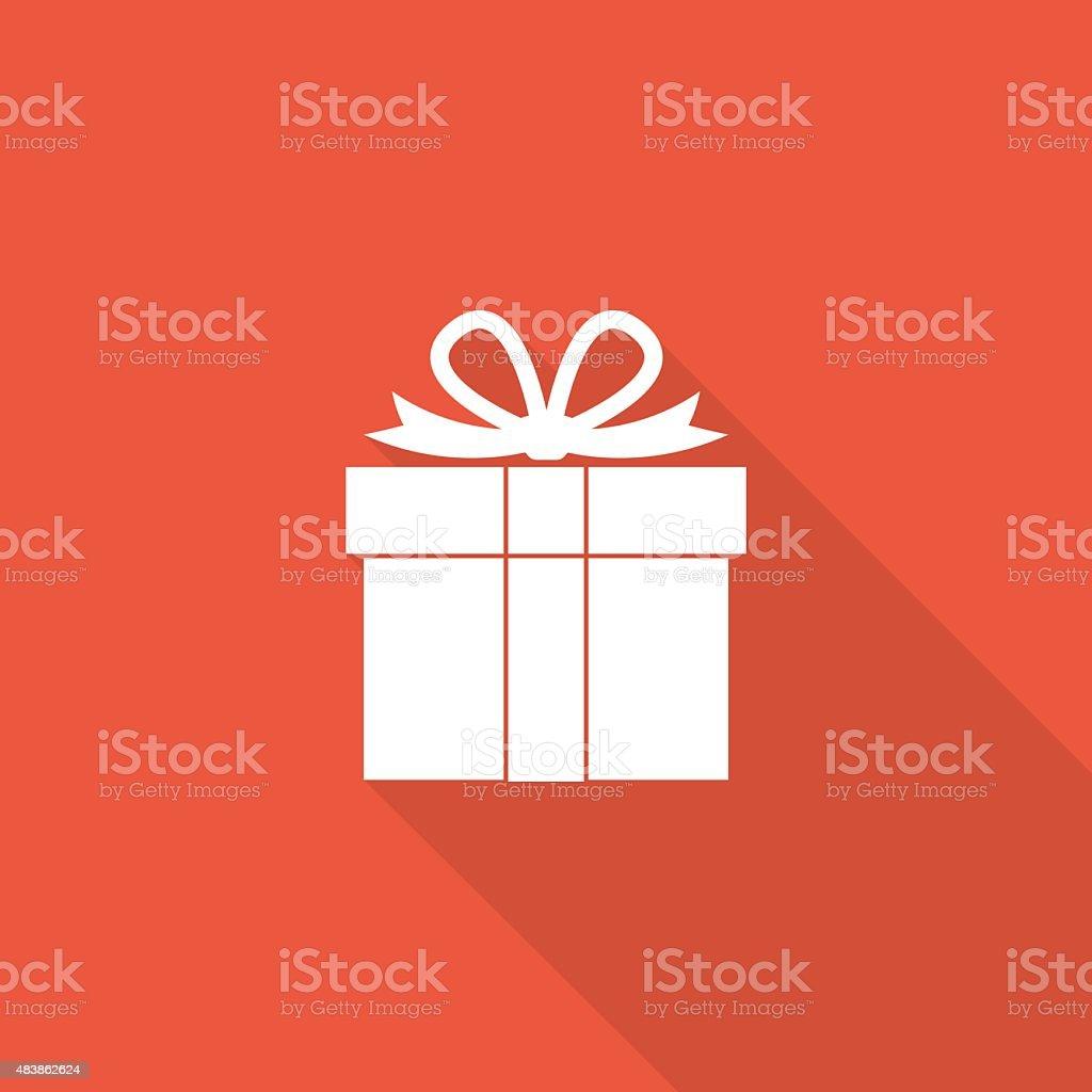giftbox icon vector art illustration