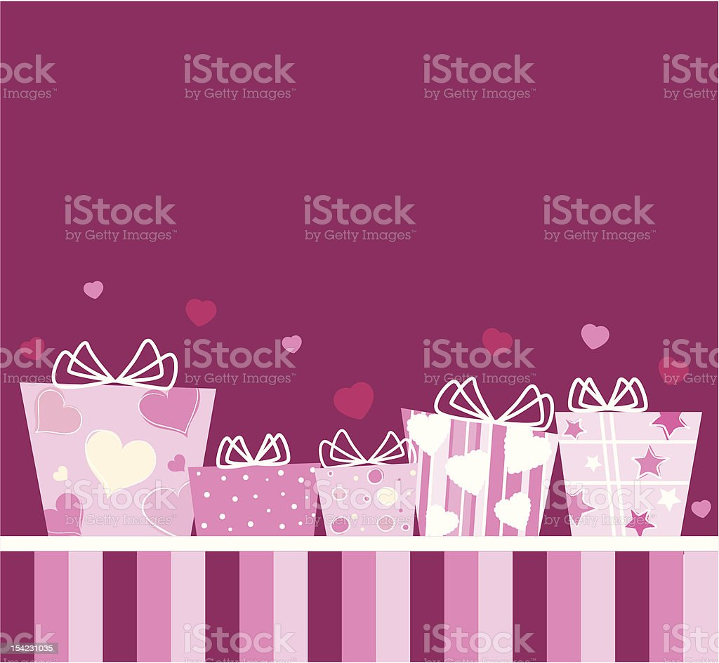 Gifts for Lovers royalty-free stock vector art