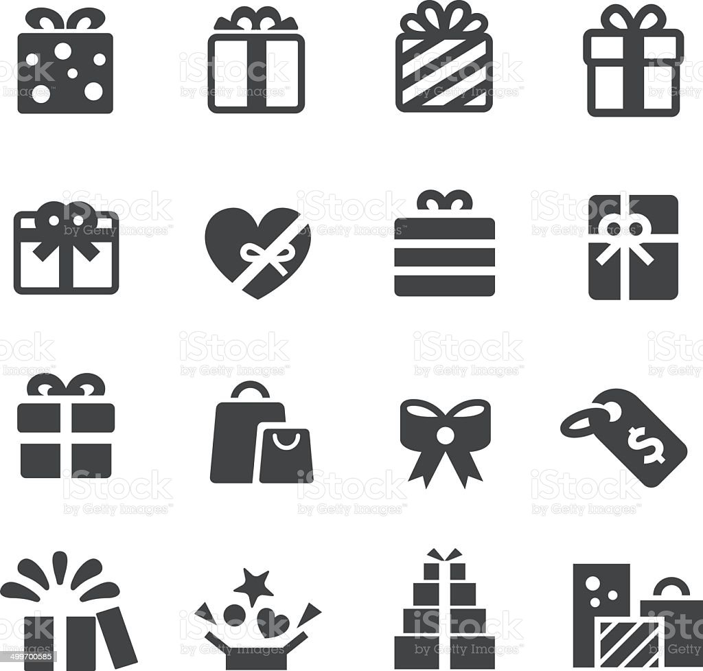 Gifts Icons - Acme Series vector art illustration