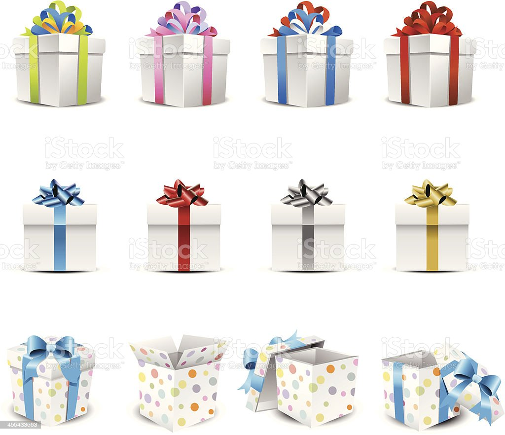 Gifts & Presents vector art illustration