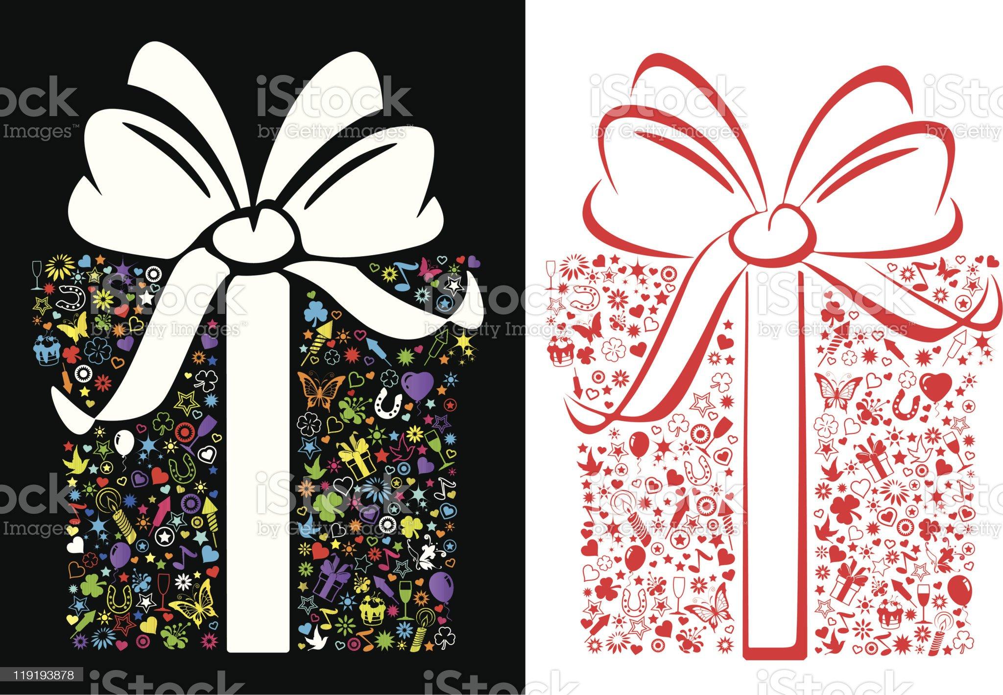 Giftshape decoration royalty-free stock vector art