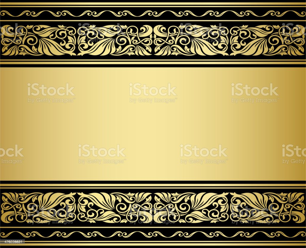 Gilded ornmaments and patterns vector art illustration