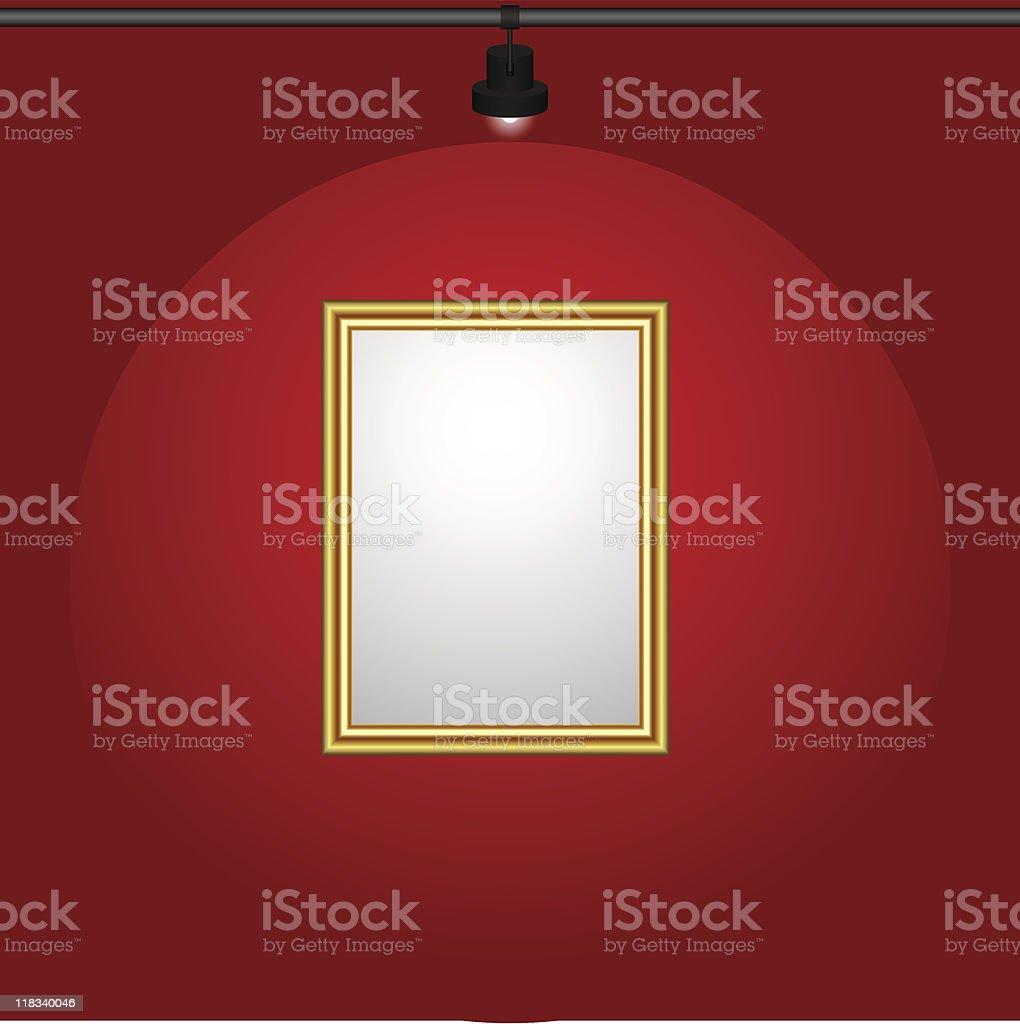 Gilt-framed blank painting. royalty-free stock vector art
