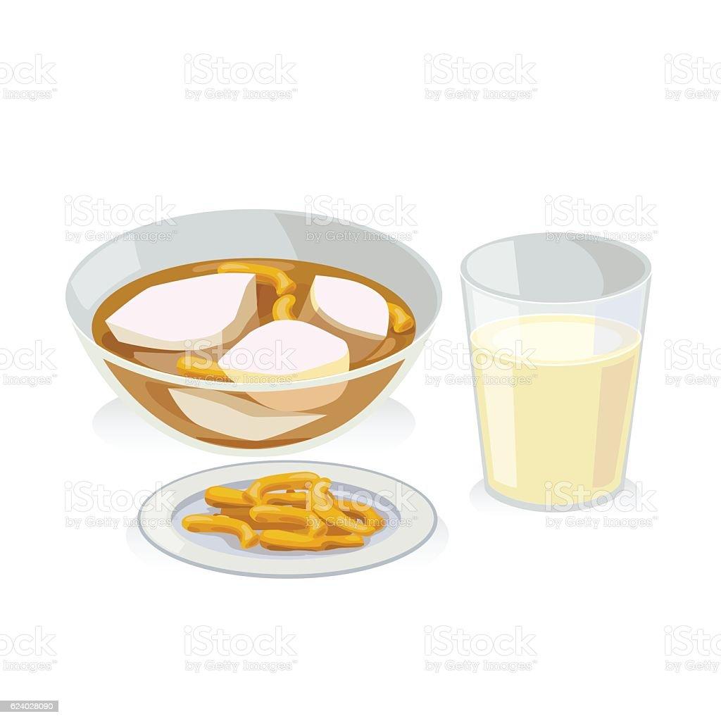 ginger soy vector art illustration