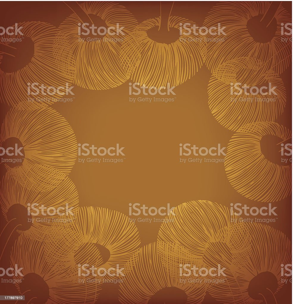 Ginger vintage flower banner royalty-free stock vector art