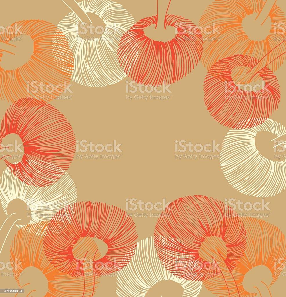Ginger vintage flower banner royalty-free stock vector art