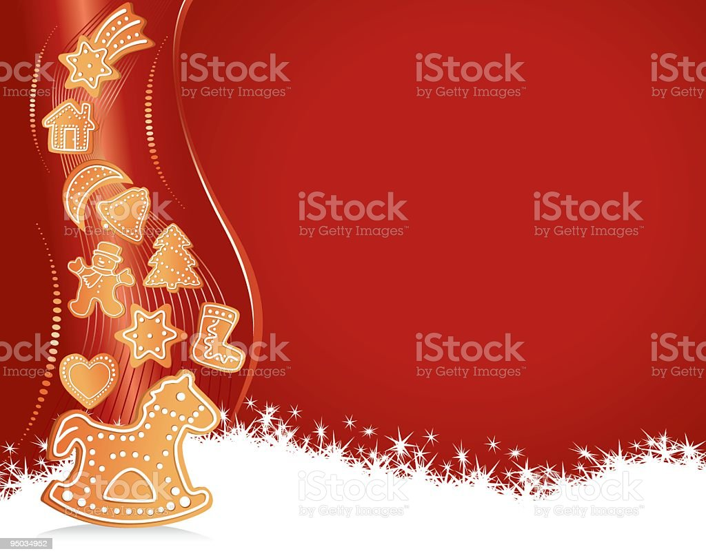 Gingerbread Cookie Background royalty-free stock vector art
