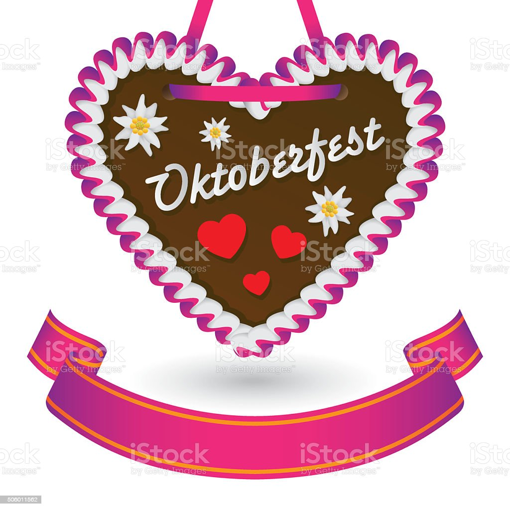 Gingerbread Cookie Heart stock photo