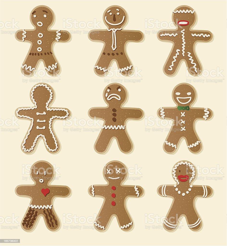 Gingerbread Cookie vector art illustration