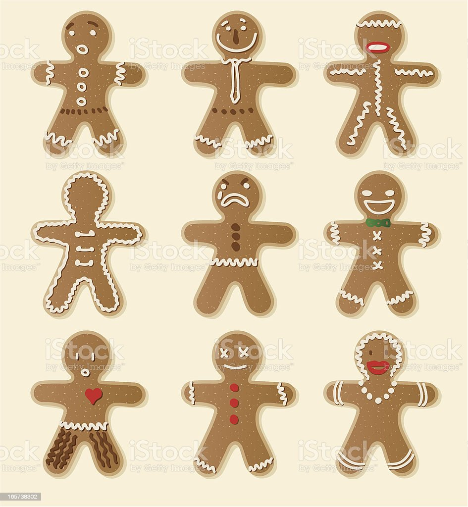 Gingerbread Cookie vector art illustration