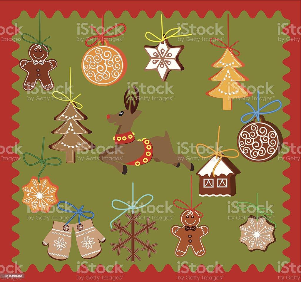 Gingerbread cookies royalty-free stock vector art