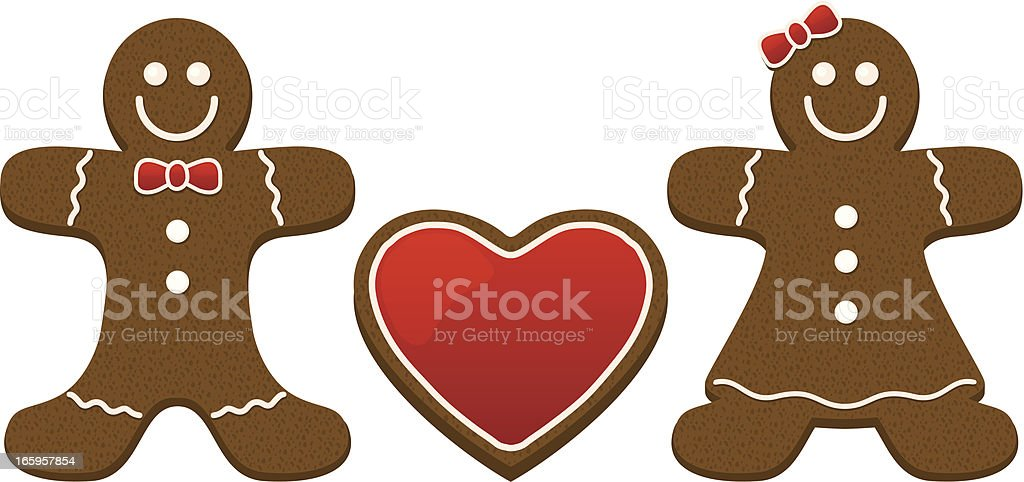 Gingerbread Couple royalty-free stock vector art