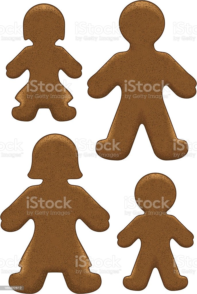 Gingerbread family royalty-free stock vector art