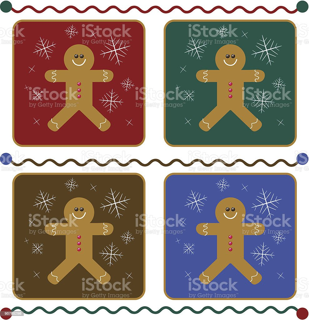 Gingerbread man cookies royalty-free stock vector art