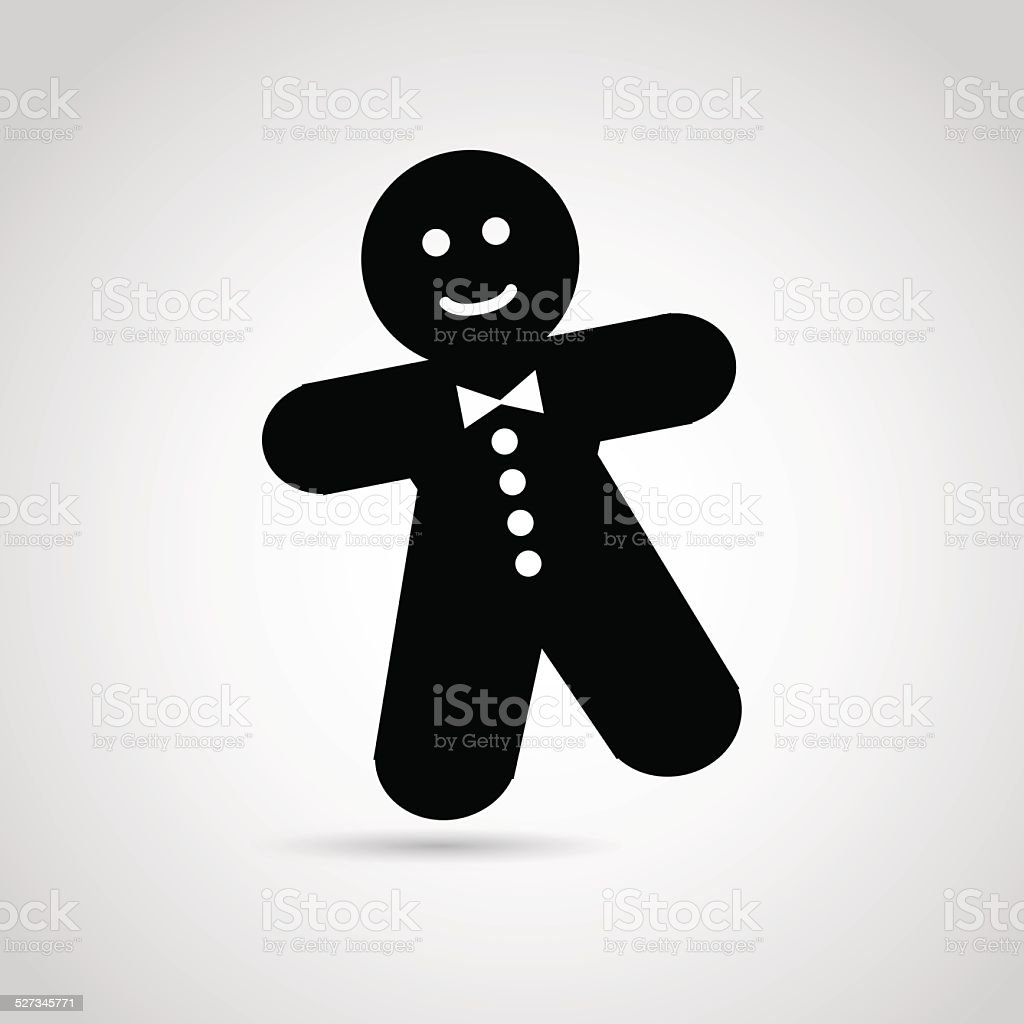 Gingerbread man icon. vector art illustration