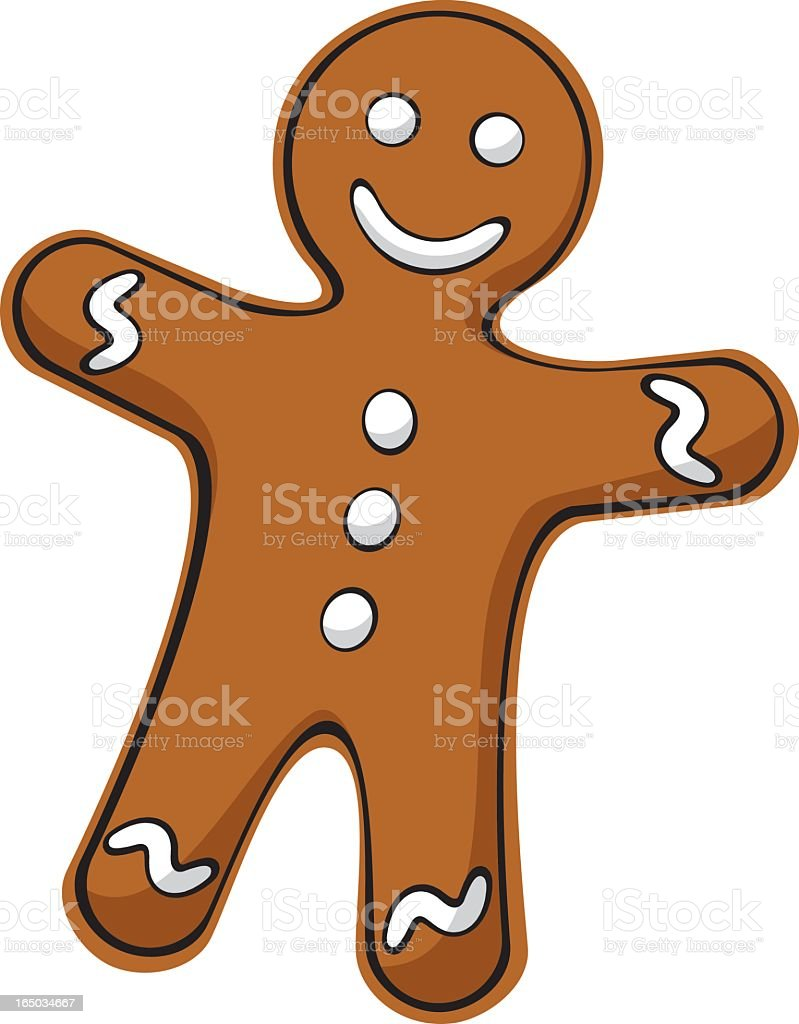 Gingerbread Man royalty-free stock vector art