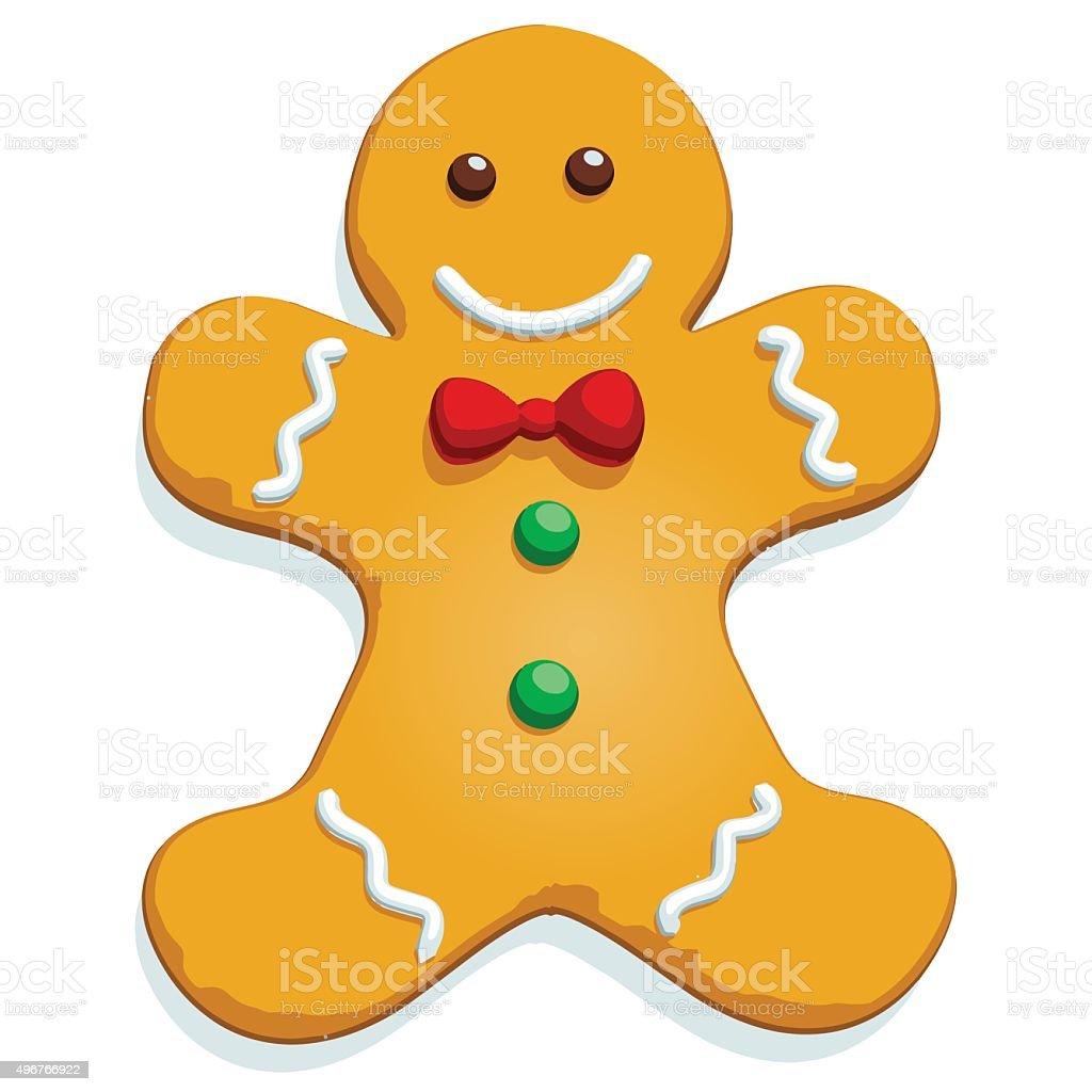 Gingerbread Man - Vector Image vector art illustration