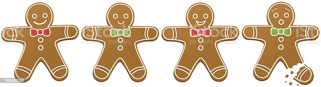 Gingerbread Men vector art illustration