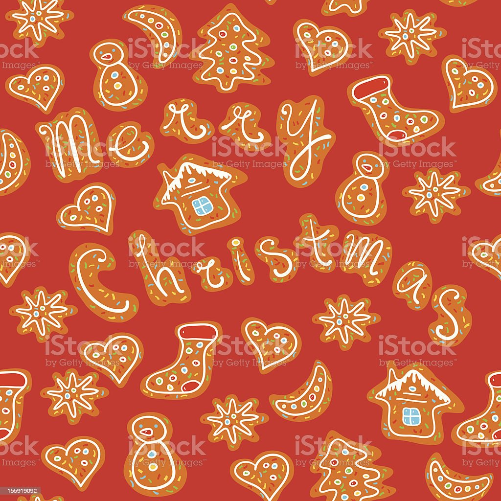 Gingerbread Pattern. royalty-free stock vector art