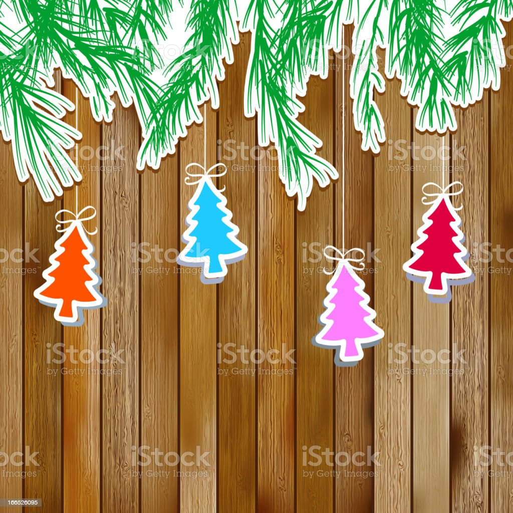 Gingerbread with Christmas tree branches.  + EPS8 royalty-free stock vector art