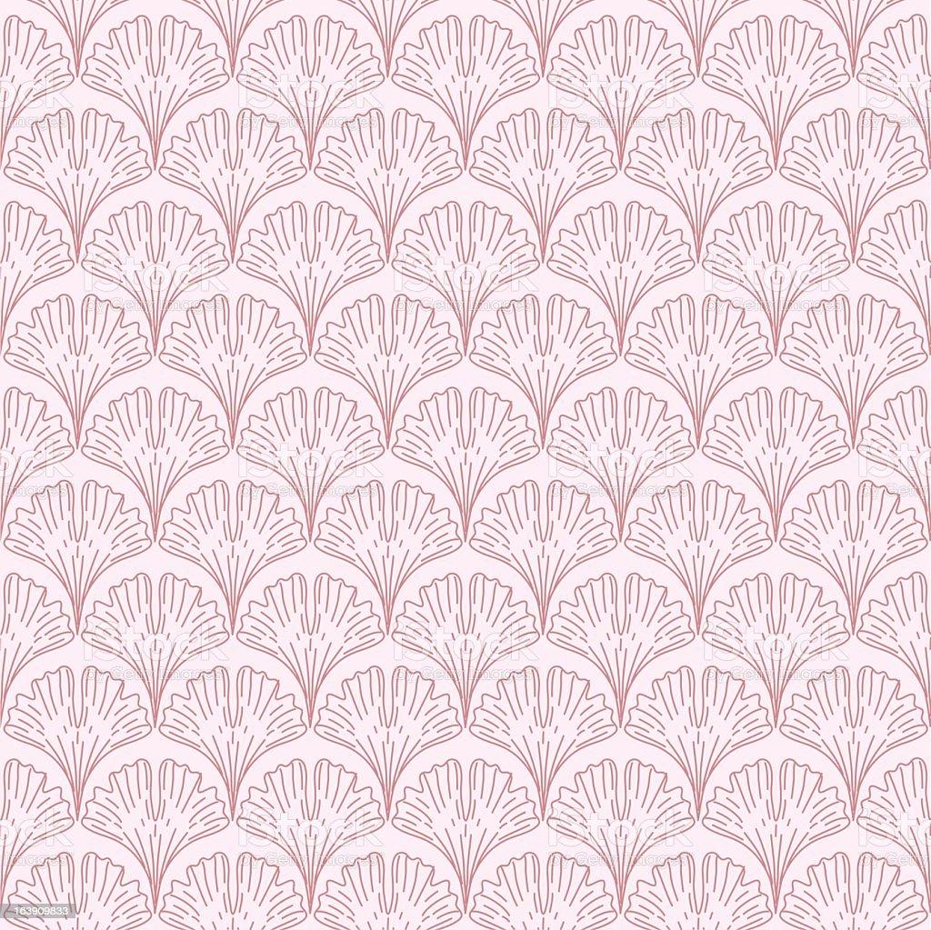 Ginkgo Leaf Pattern royalty-free stock vector art