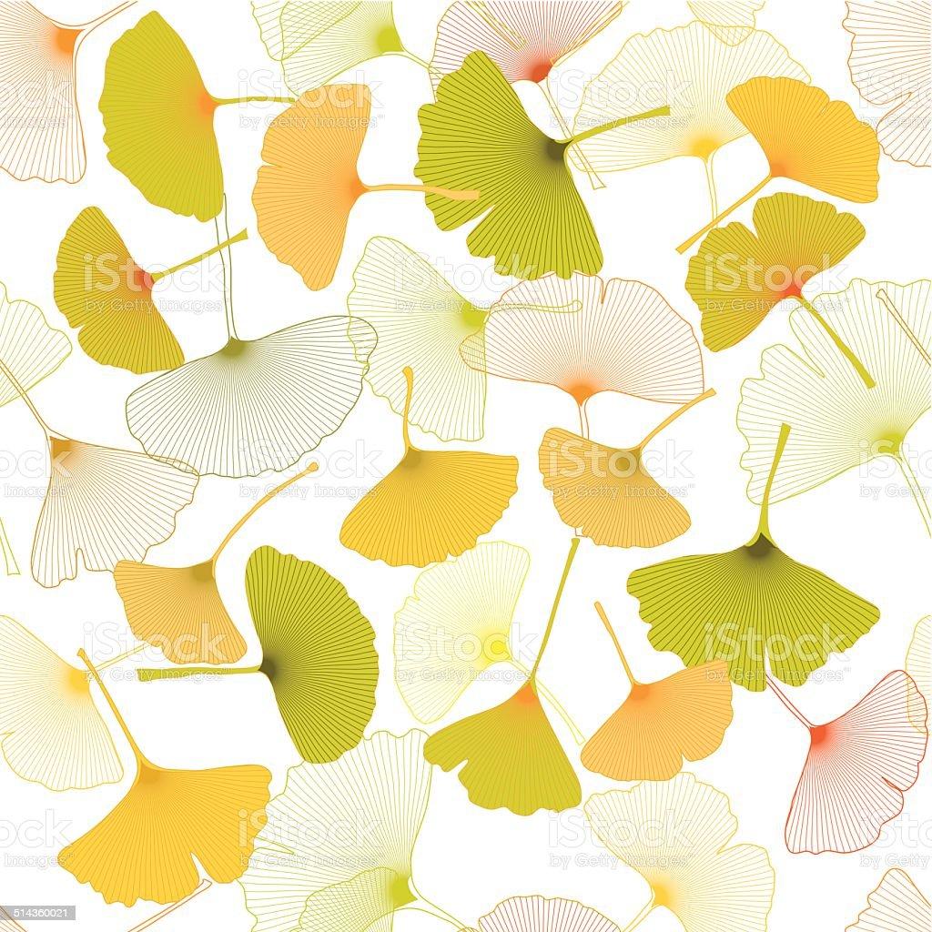 ginkgo pattern vector art illustration