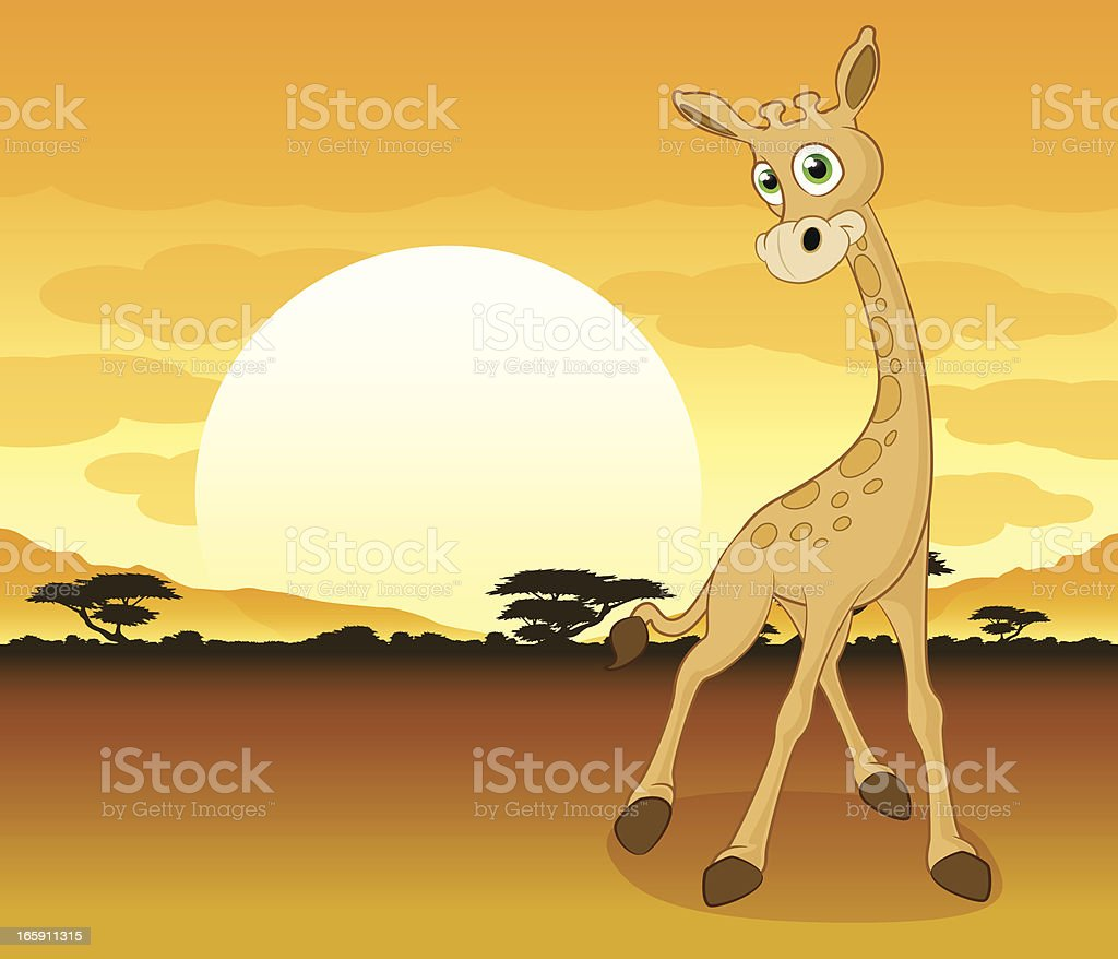Giraffe Cartoon royalty-free stock vector art