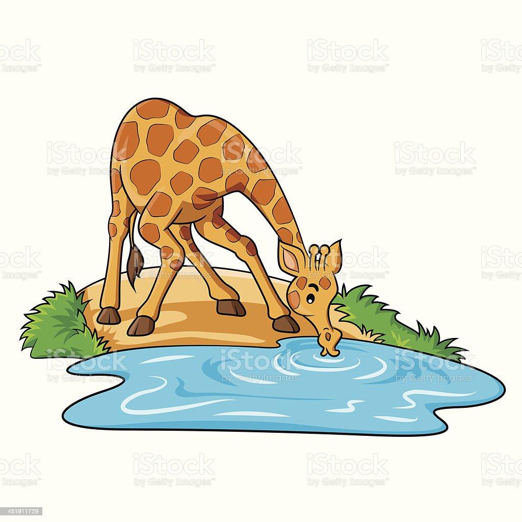 Giraffe Cartoon vector art illustration