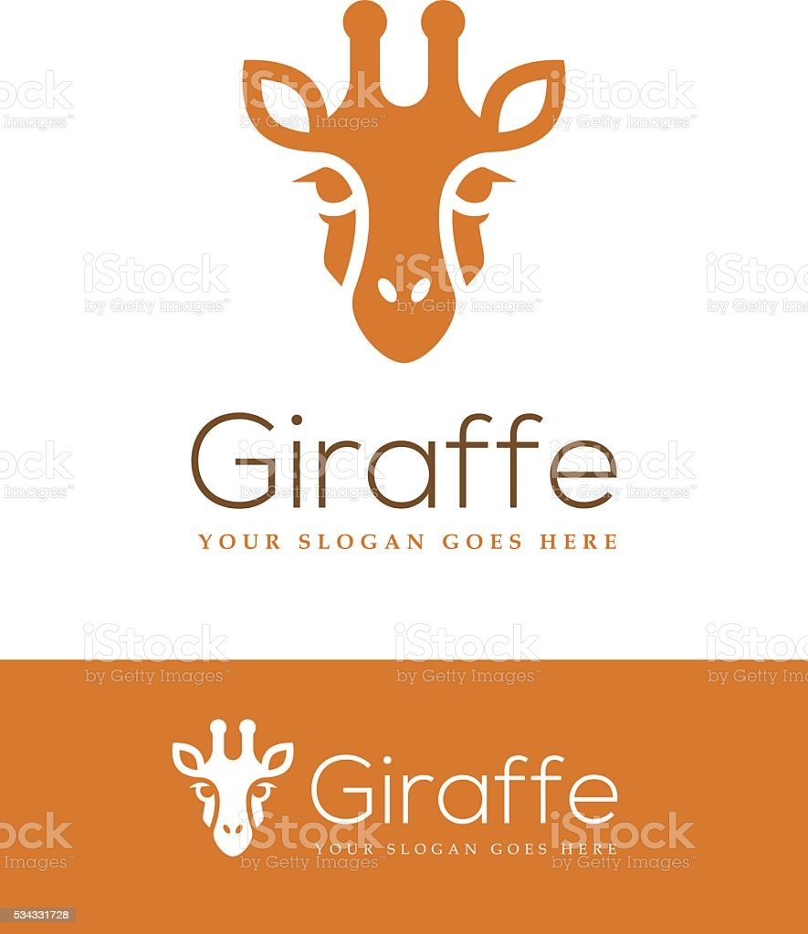 Giraffe Head Icon vector art illustration