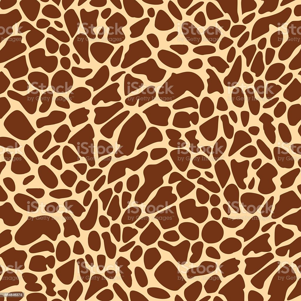 Seamless giraffe skin pattern vector art illustration