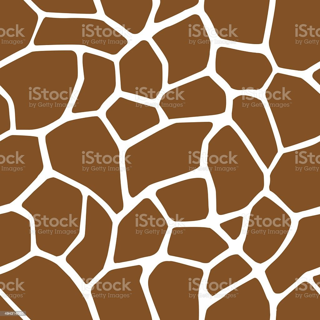 Giraffe Skin Seamless Pattern vector art illustration