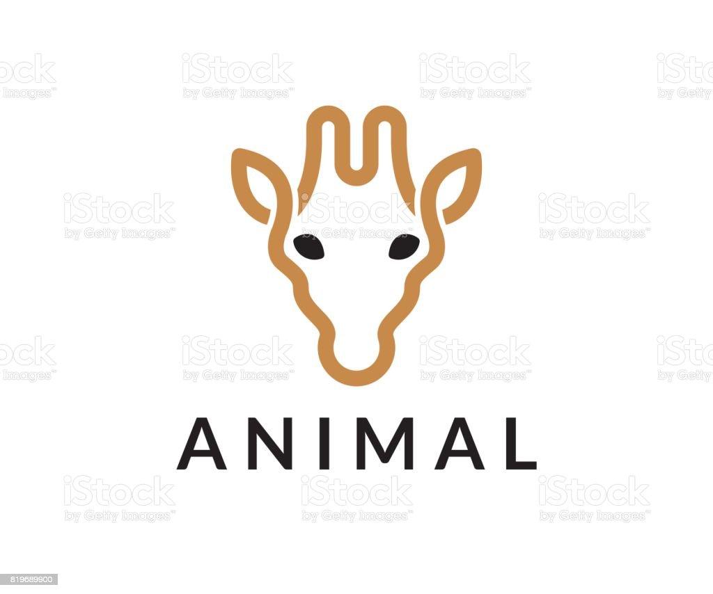 Giraffe vector icon vector art illustration