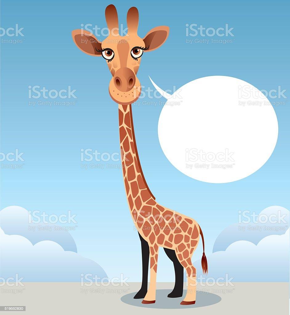 Giraffe vector art illustration