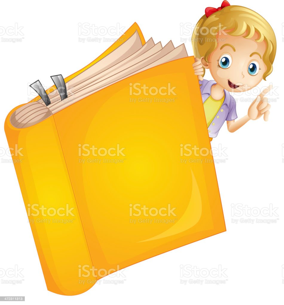 Girl and a book royalty-free stock vector art