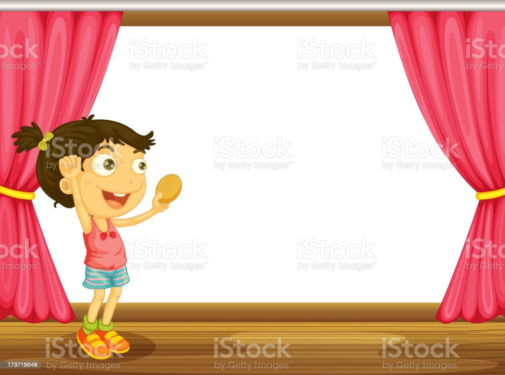 Girl and a window royalty-free stock vector art