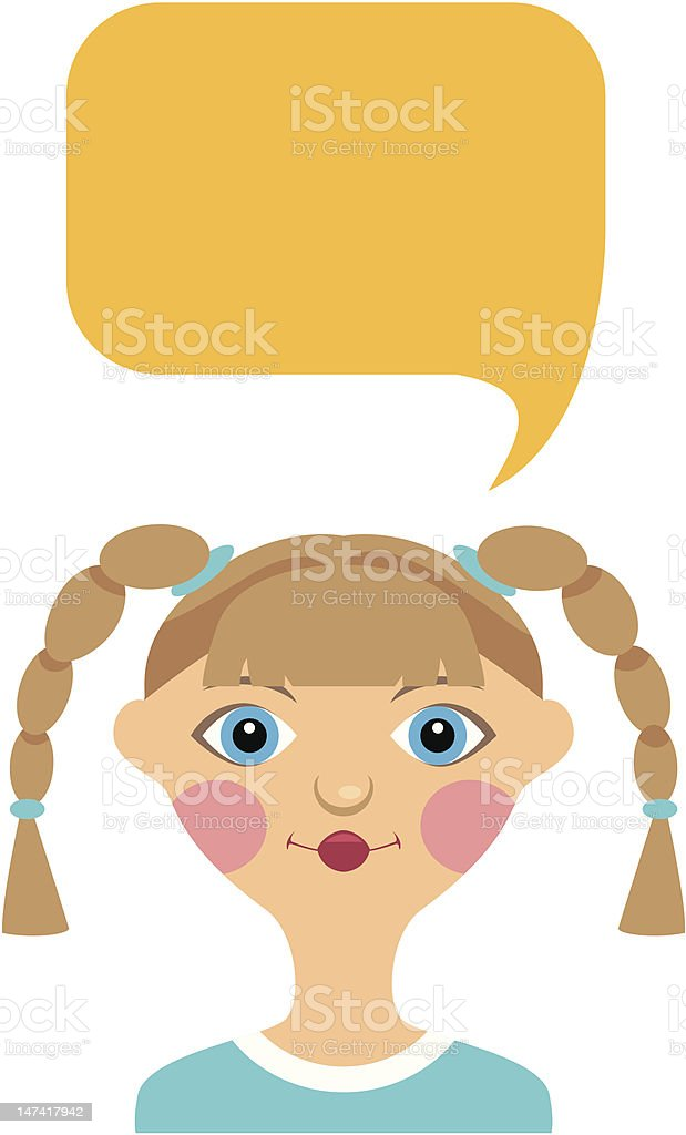 Girl and bubble royalty-free stock vector art