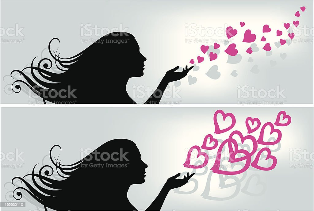 Girl and Love royalty-free stock vector art