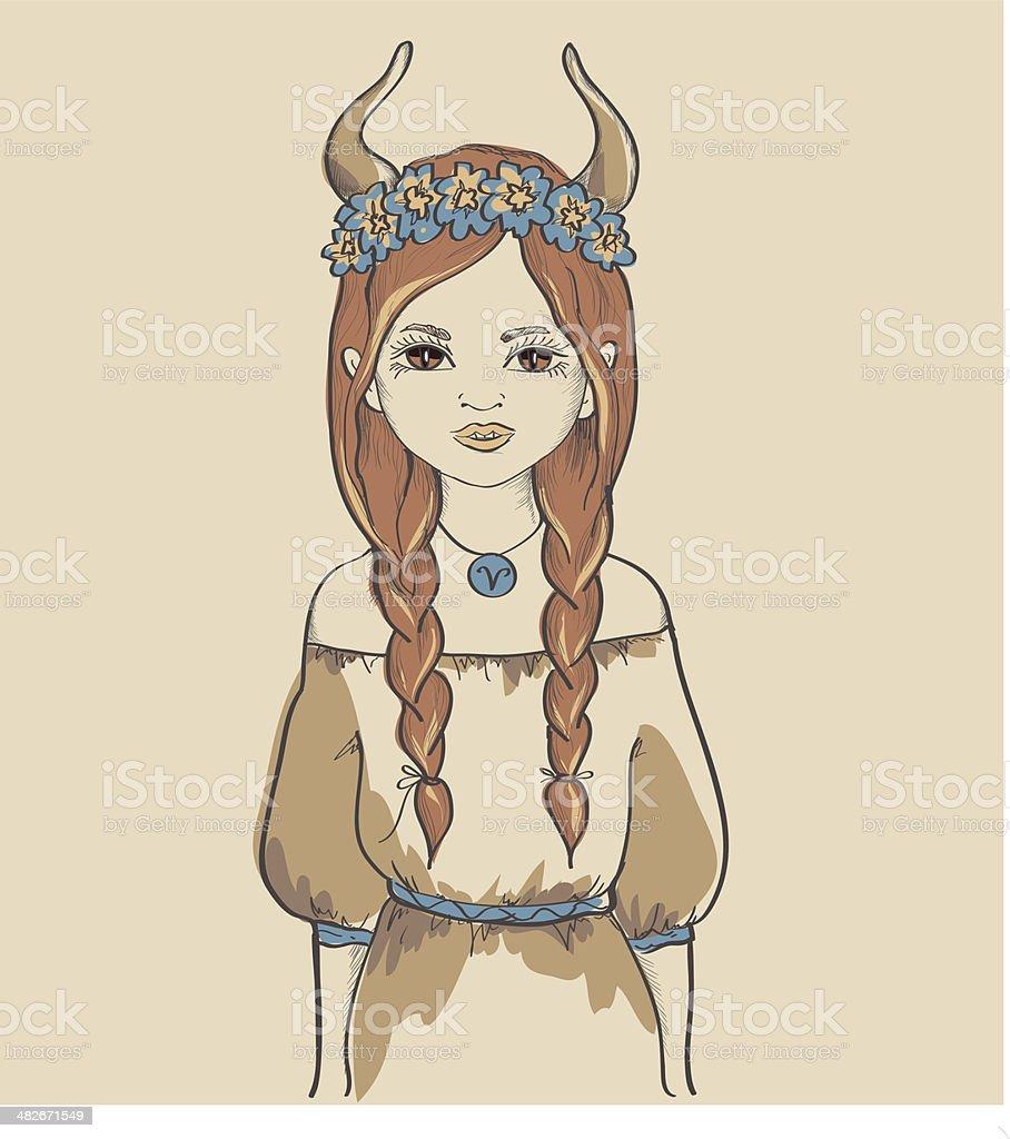 Girl. Astrological sign royalty-free stock vector art
