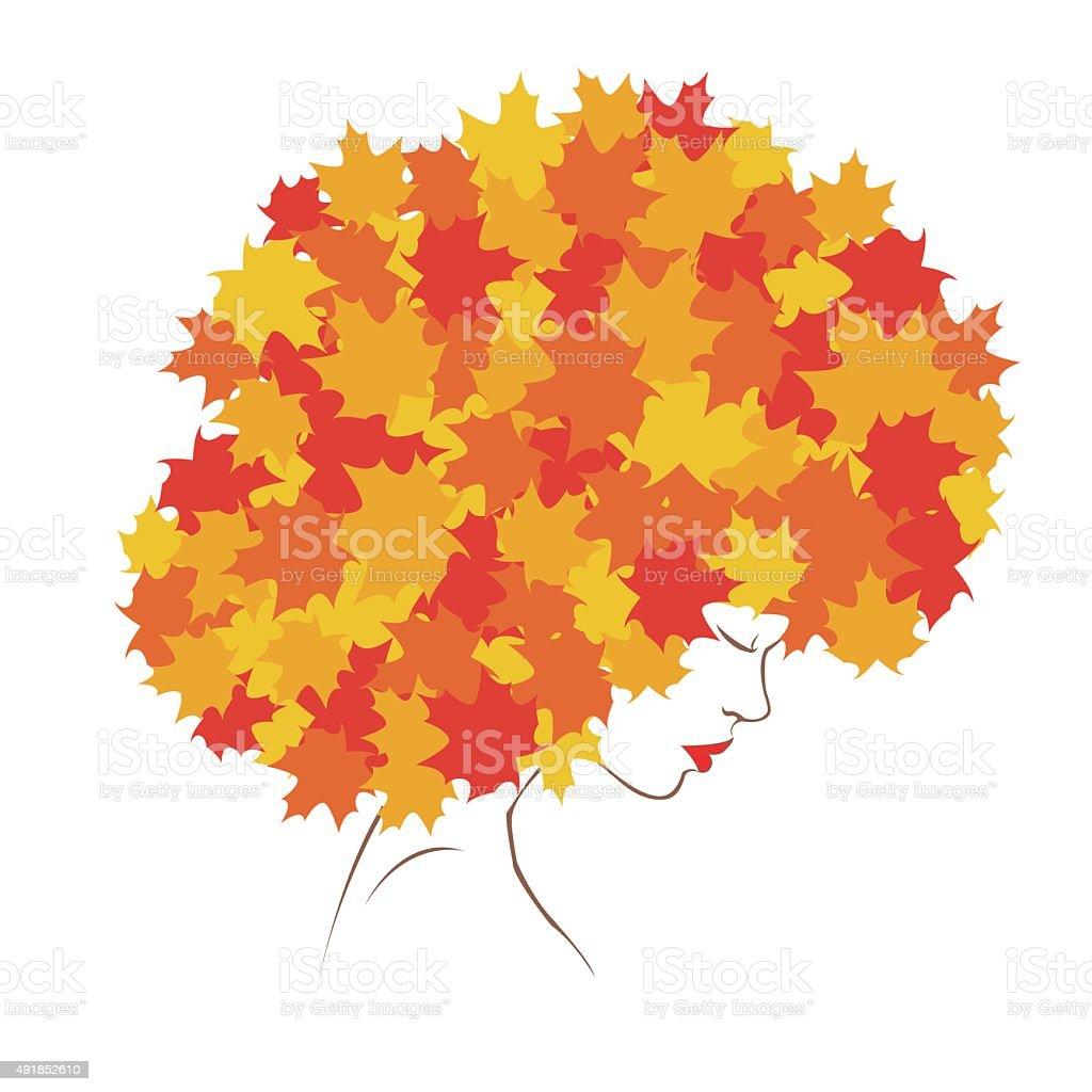 girl Autumn royalty-free stock vector art