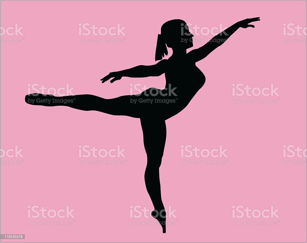 Girl Ballet Dancer (Vector) royalty-free stock vector art