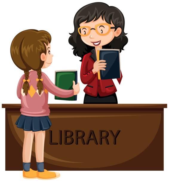 To Borrow A Book Clip Art, Vector Images & Illustrations ...