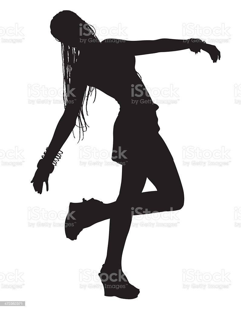 girl dancing 2 royalty-free stock vector art
