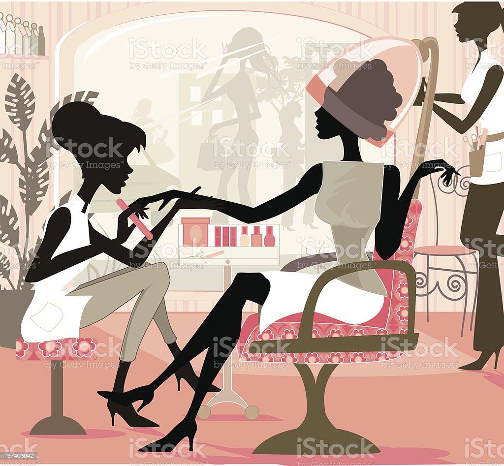 Girl Day vector art illustration