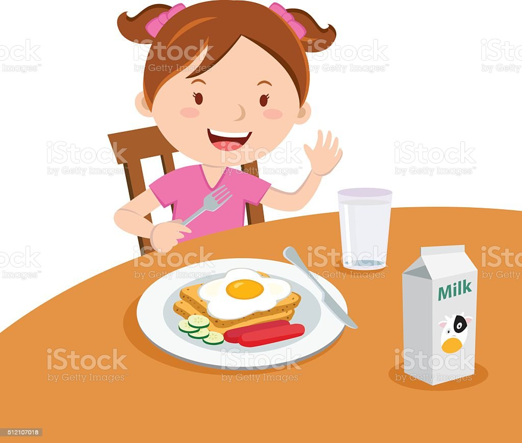 clipart girl eating breakfast - photo #33