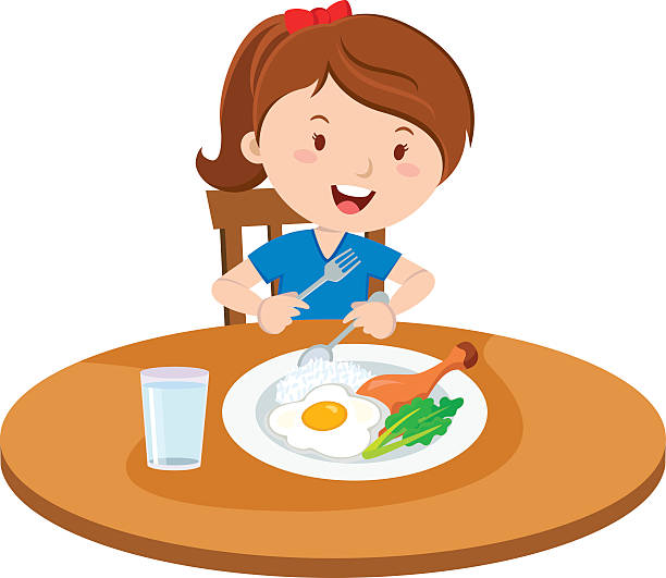 clipart girl eating breakfast - photo #5