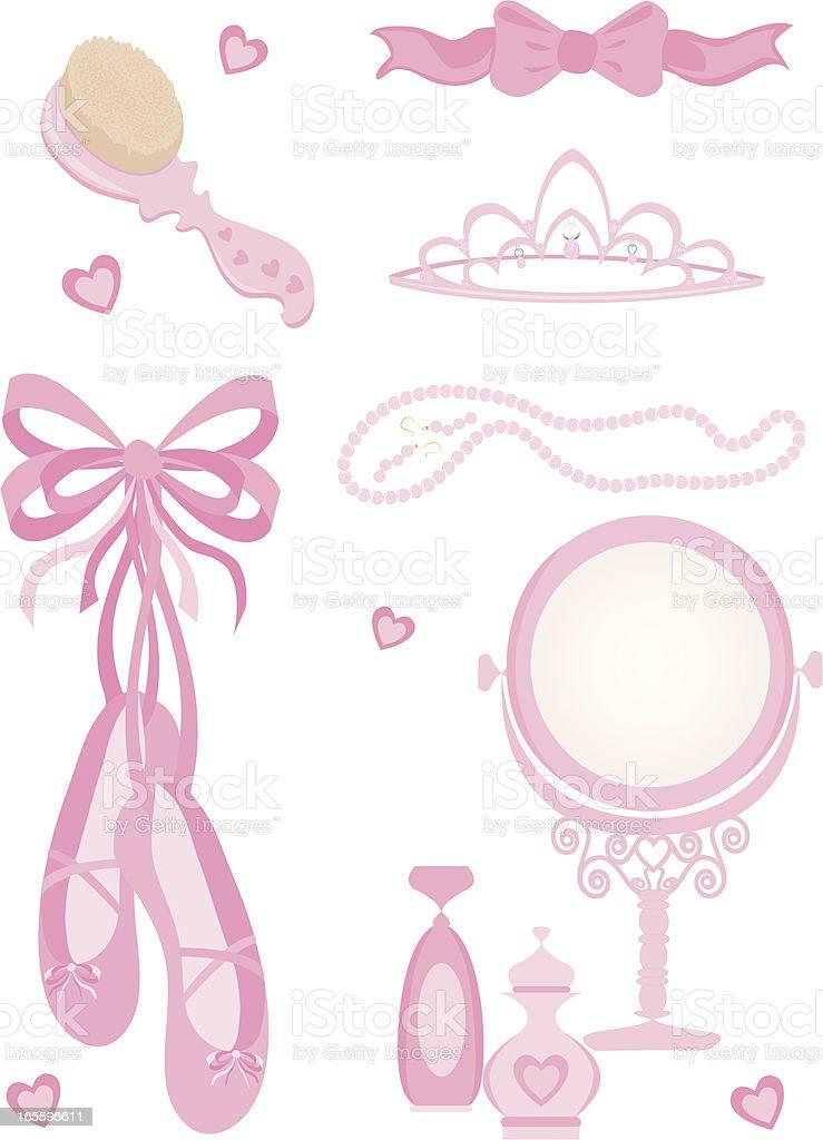 Girl Elements vector art illustration
