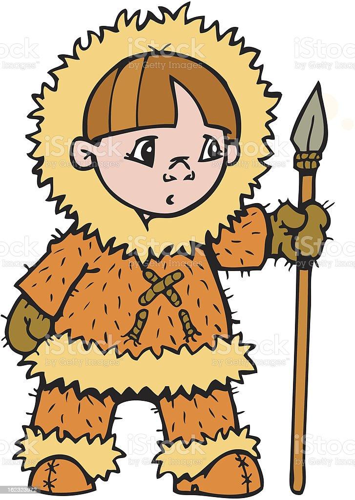 Girl Eskimo royalty-free stock vector art