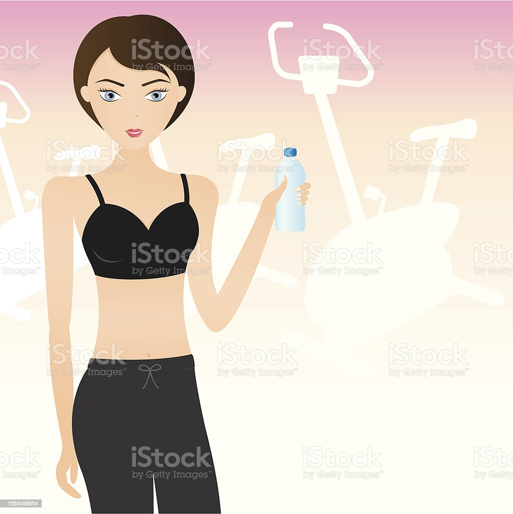 Girl Exercise royalty-free stock vector art