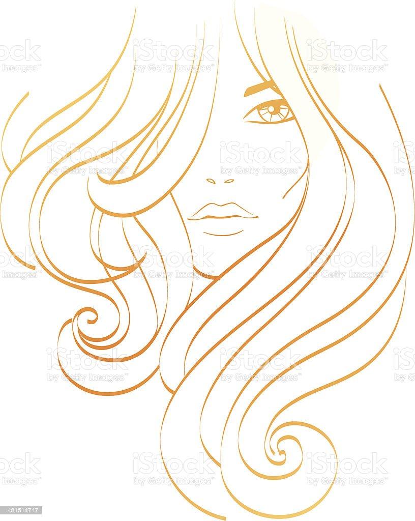 Girl fashion vector art illustration